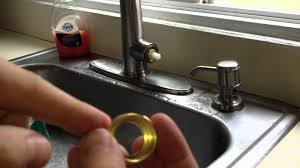 removing faucet from kitchen sink how to fix a leaky kitchen faucet pfister cartridge youtube