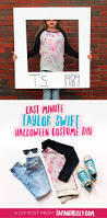 diy last minute taylor swift halloween costume taz and belly