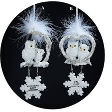 1st Christmas Decorations White Owl First Christmas Or Merry Christmas Ornament Christmas