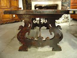 Tuscany Dining Room Antique Tuscan Walnut Wood Dining Table At 1stdibs