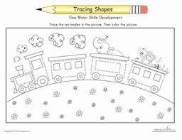 trace the train worksheet education com