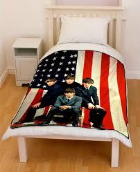 American Flag Bed Set The Beatles Usa Flag Bedding Throw Fleece Blanket Creativgoods