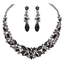 black rhinestone necklace images Youfir austrian crystal rhinestone bridal wedding jpg