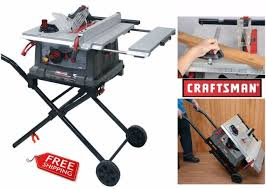 craftsman 10 portable table saw craftsman 10 portable table saw stand miter woodworking workshop