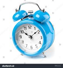 Old Fashioned Alarm Clocks Old Fashioned Blue Mechanical Alarm Clock Stock Photo 68346502