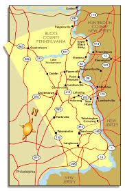 bucks county map bucks county pa road map map of bucks county pa map of pa