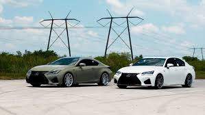 custom lexus rc army green lexus rc f u0026 white gs f pose on custom rims auto moto