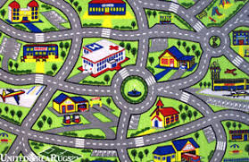 7x10 Area Rug 7x10 Area Rug Kid S Play Road Map City Driving Time New