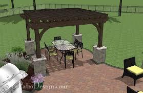 Concrete Paver Patio Designs Concrete Paver Patio Design With Pergola And Seat Wall 495 Sq Ft