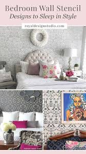 wall pattern for bedroom bedroom wall stencil designs diy decorating to sleep in style