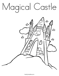 magical castle coloring twisty noodle