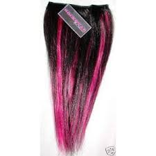 pink hair extensions black and hot pink human hair extension 14 ebay
