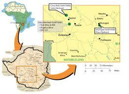 Zimbabwe Map Gweru Shurugwi Greenstone Belt New Dawn Mining Corp