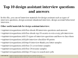 Interior Design Job Search by Top 10 Design Assistant Interview Questions And Answers 1 638 Jpg Cb U003d1427175983