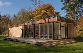 small eco houses a modern retreat on the island of marrowstone prefab window