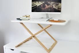 Raised Desk Shelf Freedesk Portable Standing Desk Converter With Laptop Riser And