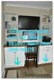bar height base cabinets impressive best 25 counter height desk ideas on pinterest tall bar