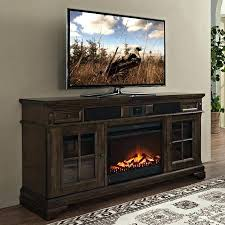 Corner Tv Stands With Fireplace - rustic brown home decorators collection fireplace stands