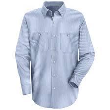 red kap men u0027s striped industrial long sleeve work shirt sp10 14