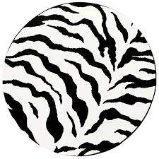 Black And White Zebra Area Rug Zebra Area Rug 6 Round Animal Skin Print Modern Carpet Black