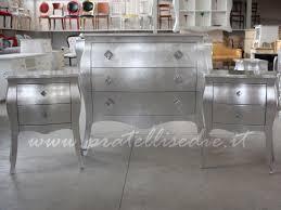 comodini foglia argento gruppo bombato guide in metallo pratelli mobili