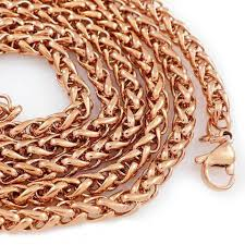 solid copper necklace chain images Iced out and solid style 18k rose gold necklaces and chains jpg