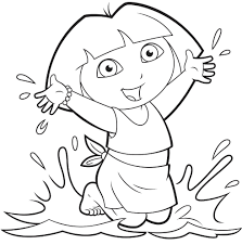 25 wonderful dora the explorer coloring pages