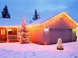 decorated homes for christmas christmas christmas lights on houses with snow wallpaper picture