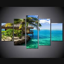 chambre de d馗ompression hd imprimé maldives mer resort peinture impression sur toile chambre