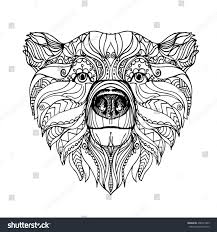 hand drawn ink doodle bear on stock vector 406351405 shutterstock