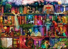 Armchair Treasure Hunt Books Fairytale Treasure Hunt Book Shelf Digital Art By Aimee Stewart
