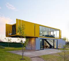 4 shipping containers prefab plus 1 for guests remote house and