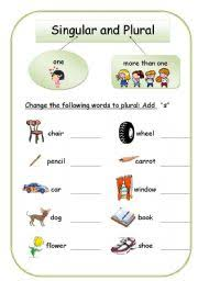 singular and plural worksheet by miesies muis