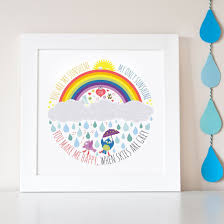 ethically made wall art and wall decals for children ethical market personalised you are my sunshine children s wall print