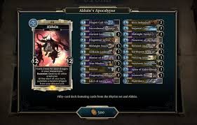 heroes of skyrim complete card list legends decks the elder