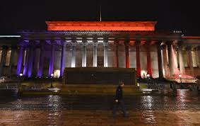 Blue White Red White Blue Flag Solidarity With France Red White And Blue Buildings Around The World