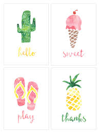 watercolor notecards summer watercolor notecards watercolor note cards and planners