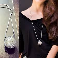 girl necklace size images Silver chain modern girl new long necklace women pendants 2015 jpg