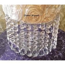 Acrylic Chandelier Beads wedding cake stand with crystals chandelier acrylic beads cupcake