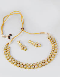 double choker necklace images Kundan double layer choker necklace set buy festive wear jpg