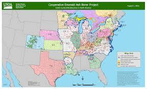 Map Of Counties In Nebraska Emerald Ash Borer Update Bygl