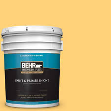 Jubilee Kitchen Wax Where To Buy by Behr Marquee 5 Gal Ppu9 13 Yellow Wax Pepper Satin Enamel