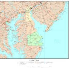 delaware road map usa state map of delaware diversos delaware maps and