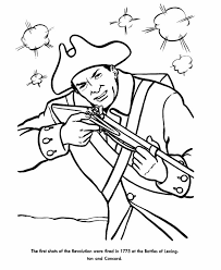 the american revolution coloring page kids coloring