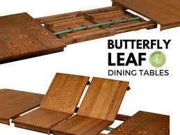 antique table with hidden leaf what are butterfly leaf dining tables countryside amish furniture