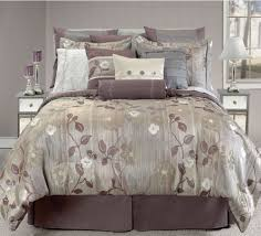 macy bedding sets macy brown silk floral pattern king bedspread and comforter with