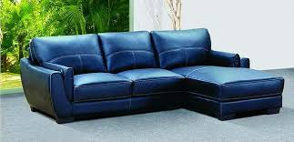 Leather Blue Sofa Navy Blue Style Leather Sofa Picture Livingroom