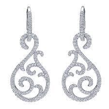 drop diamond earrings 18k white gold drop earrings eg12342w84jj
