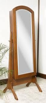 jewelry armoire oak finish jewelry cabinet mirror free standing roselawnlutheran