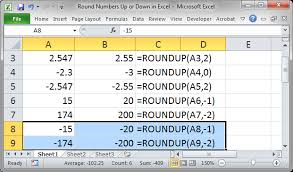 round numbers up or down in excel teachexcel com